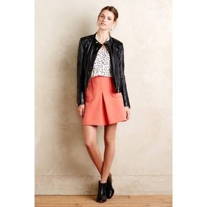 Anthropologie Maeve Cheri Coral Mini Skirt -Size 4